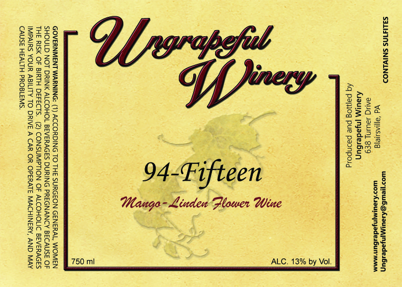 NV 94-Fifteen (Mango Linden Flower Wine)