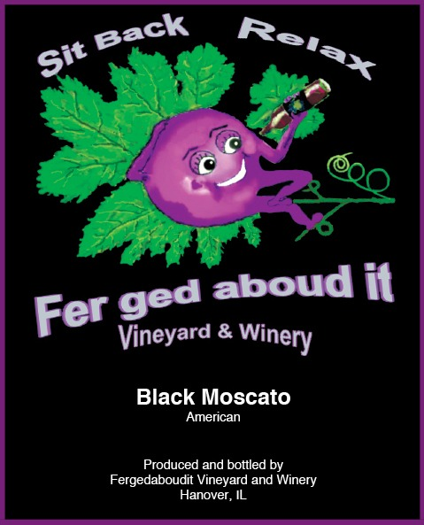 Nv Black Moscato From Fergedaboudit Vineyard And Winery Buy Now