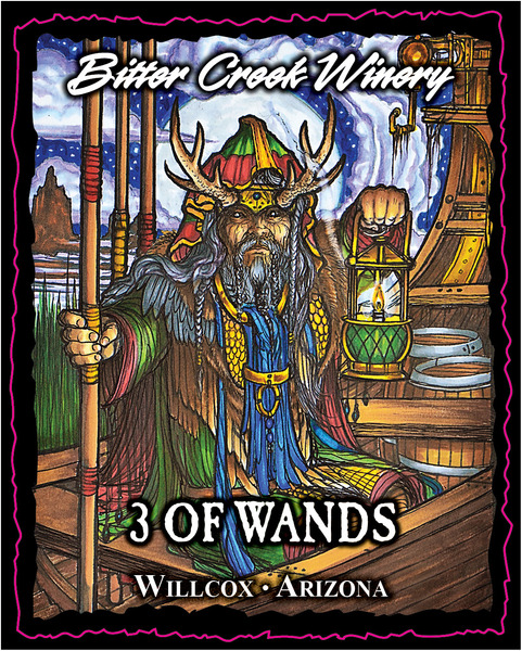 Bitter Creek Winery: 3 of Wands