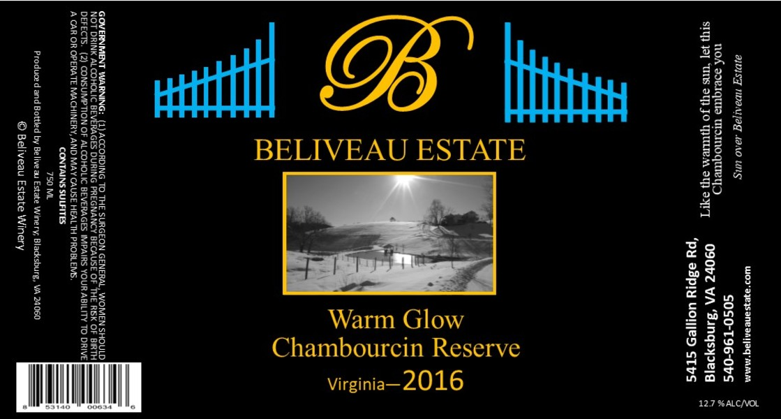 Product Image for 2016 Warm Glow; Semi-Sweet Chambourcin