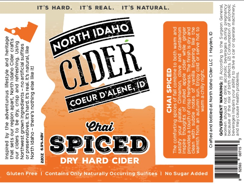 Product Image for 2017 North Idaho Chai Spiced Cider