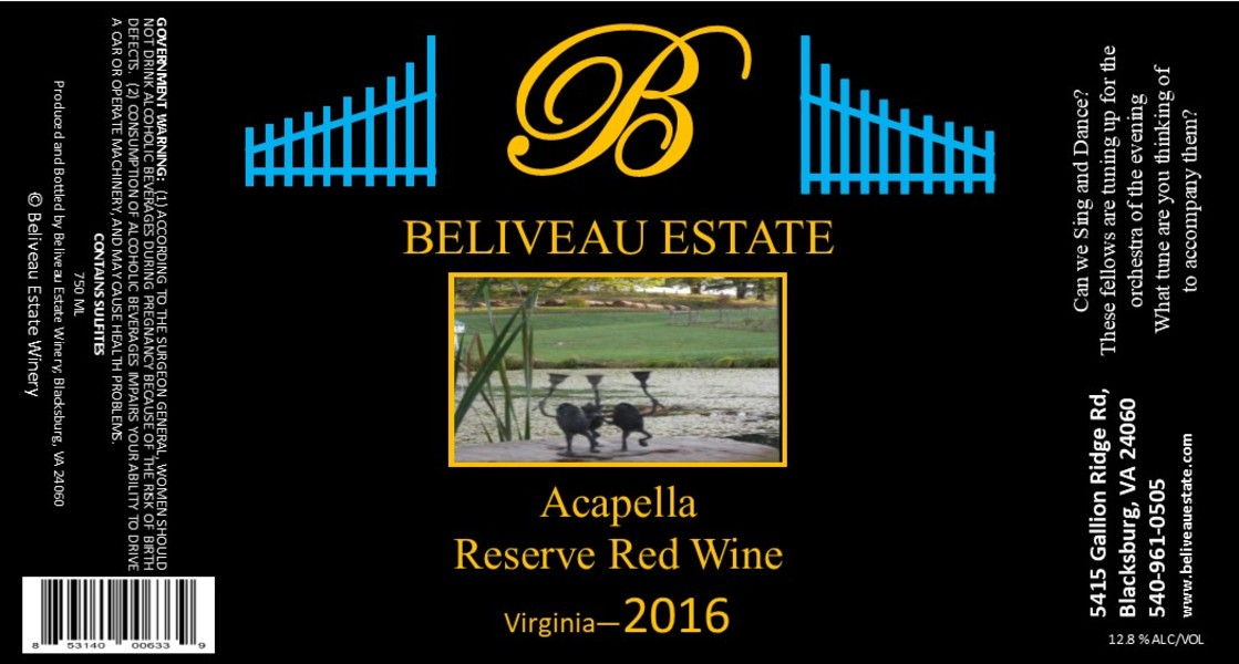 Product Image for 2016 Acapella; Red Blend