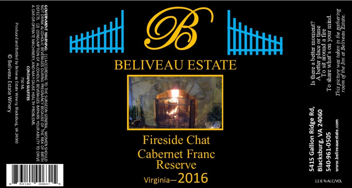 Product Image for 2016 Fireside Chat; Cabernet Franc