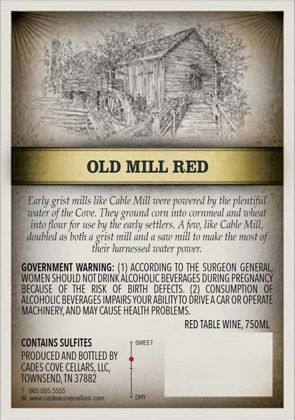 Product Image for 2015 Old Mill Red