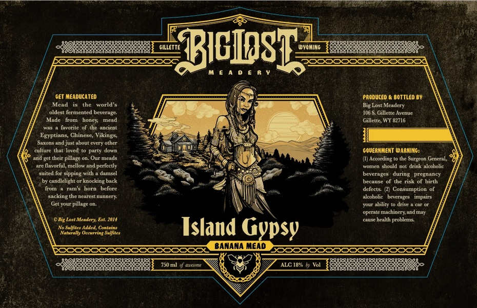 Product Image for 2019 Barrel Aged Island Gypsy- Banana Mead