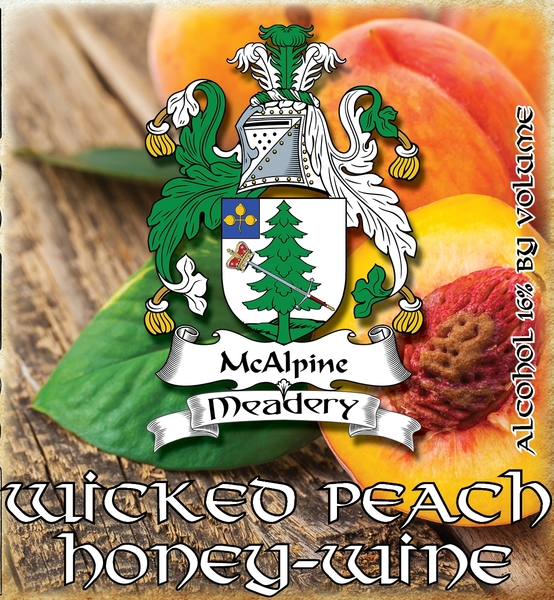 Product Image for 2019 Wicked Peach Honey-Wine