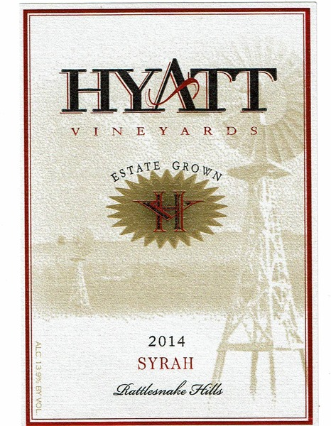 2015 Hyatt Vineyards Estate Syrah