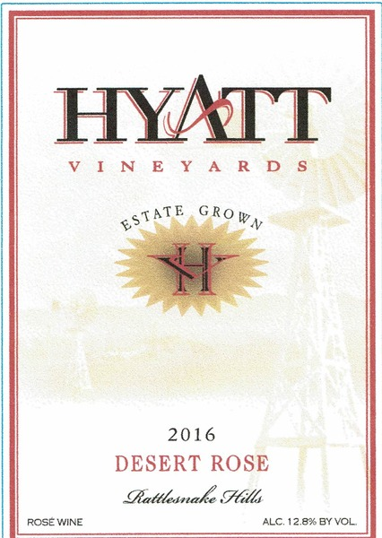 2016 Hyatt Vineyards Estate Desert Rose