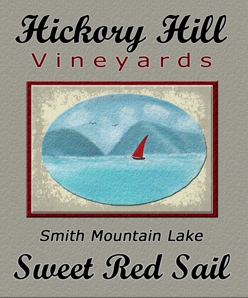 Smith Mountain Lake Sweet Red Sail