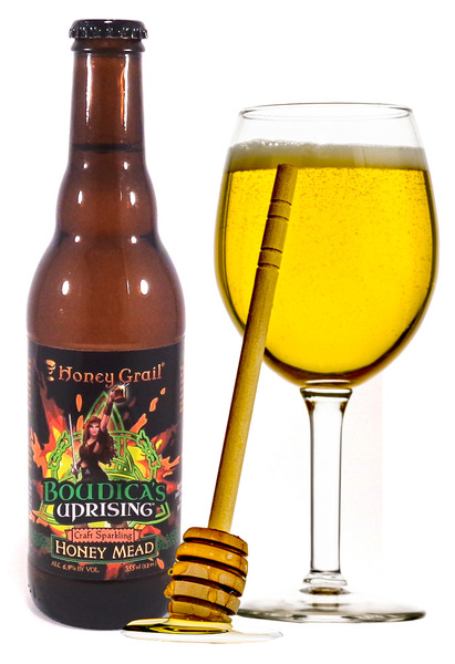 Boudica's Uprising: Sparkling Honey Mead (single bottle)