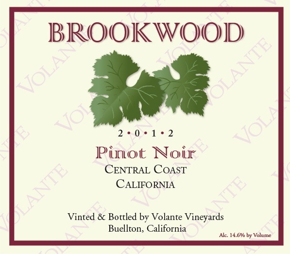 Product Image for 2012 Brookwood Pinot Noir