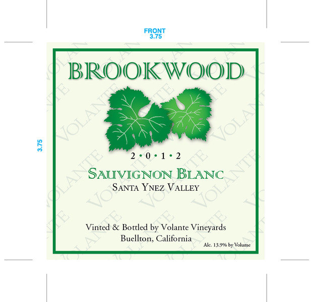 Product Image for 2012 Brookwood Sauvignon Blanc
