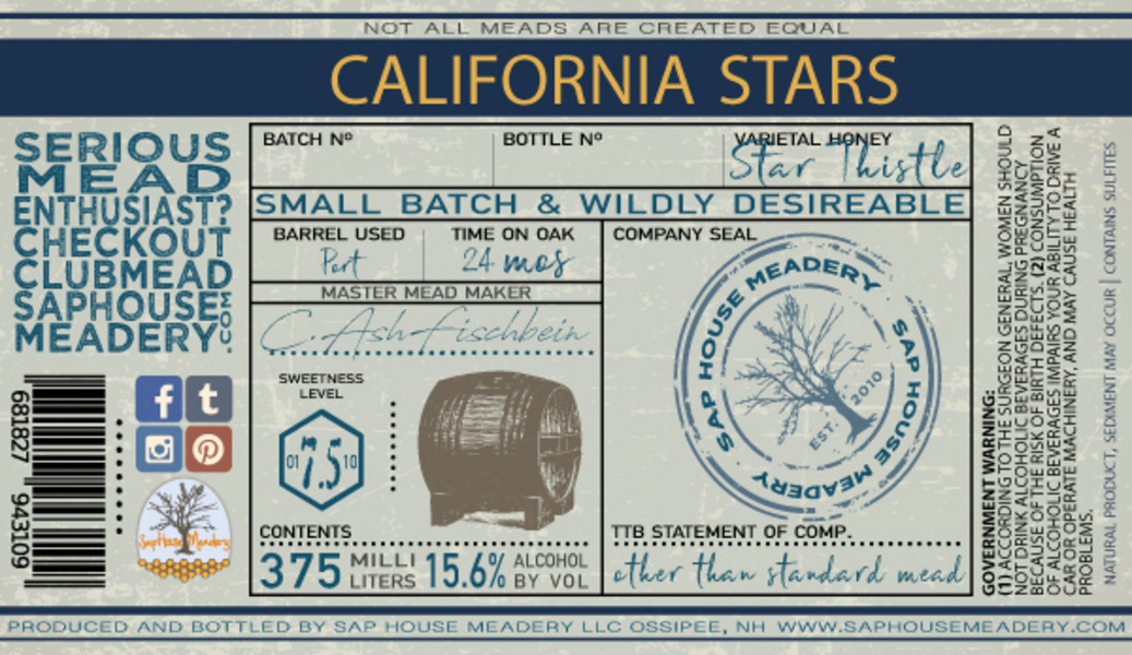Product Image for California Stars