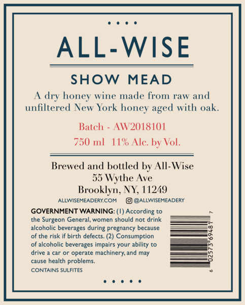 2018 All-Wise Show Mead
