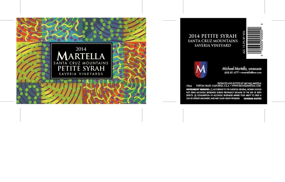Product Image for 2014 Petite Syrah Santa Cruz Mountains