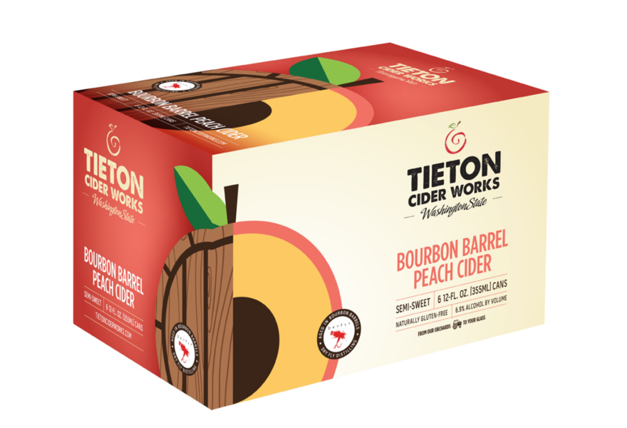 Product Image for 6 Cans - Bourbon Barrel Peach Cider (Medium)