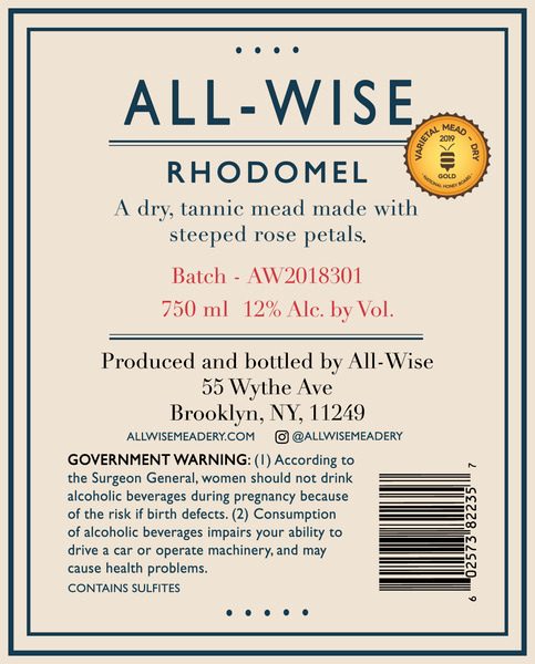 Product Image for 2018 All-Wise Rhodomel