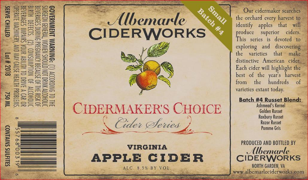 Product Image for 2018 CiderMaker's Choice - Batch #4