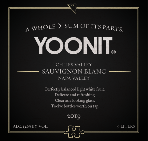 2019 Yoonit Sauvignon Blanc - Chiles Valley - 9L - Twelve Bottles Worth