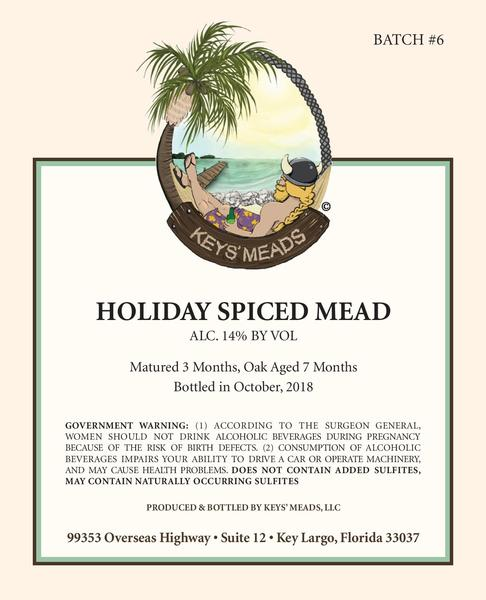 Product Image for 2018 Holiday Spiced Mead