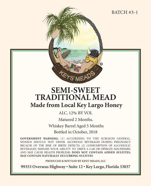 Product Image for 2018 Jim Beam™ bourbon barred aged Key Largo honey Traditional Semi-sweet Mead