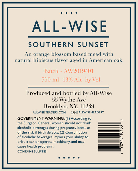 2019 All-Wise Southern Sunset