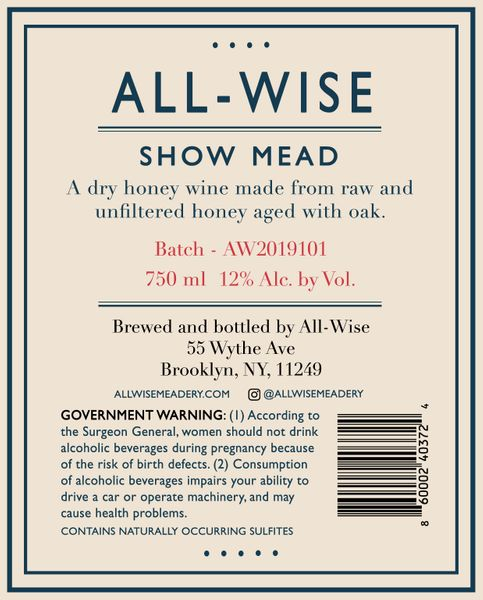 2019 All-Wise Show Mead