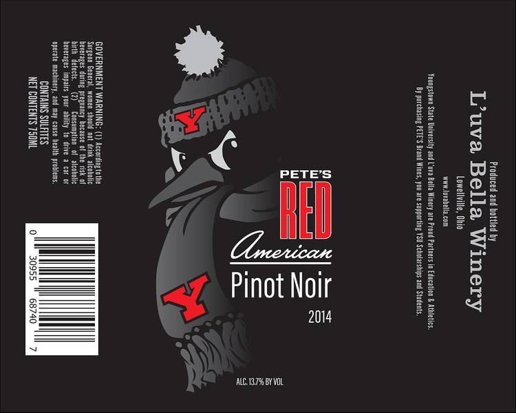 YSU Pete's Red-Pinot Noir
