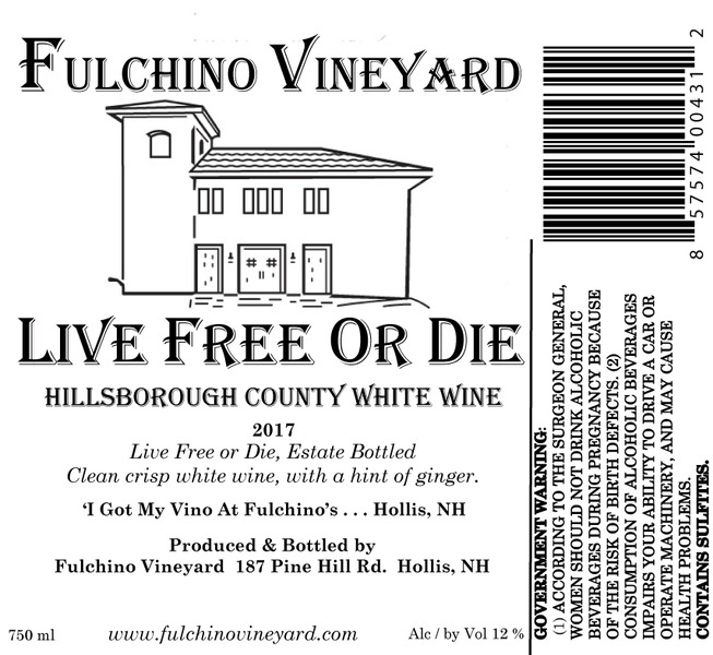 Product Image for 2017 Live Free Or Die White Wine