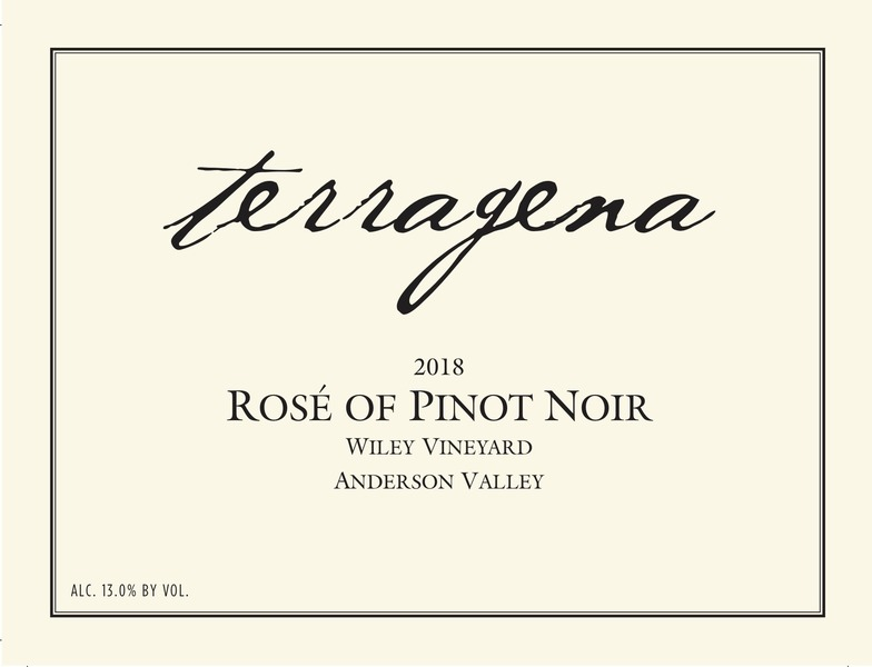 2018 Wiley Vineyard Rosé of Pinot Noir