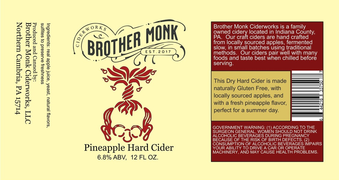 Product Image for Pineapple Hard Cider