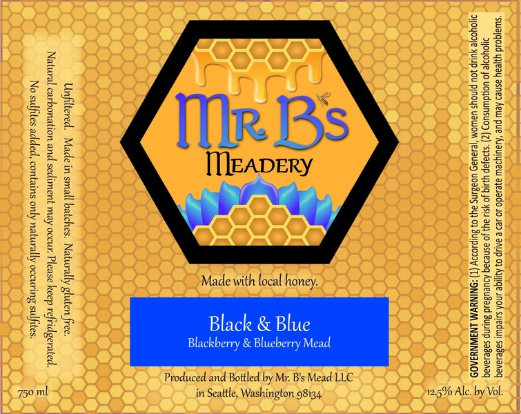 Product Image for 2019 Black & Blue Mead Semi-Sweet