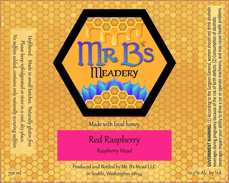 2020 Red Raspberry Mead Sweet