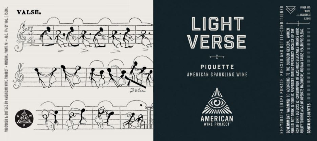 Light Verse Piquette Blanche - CANS
