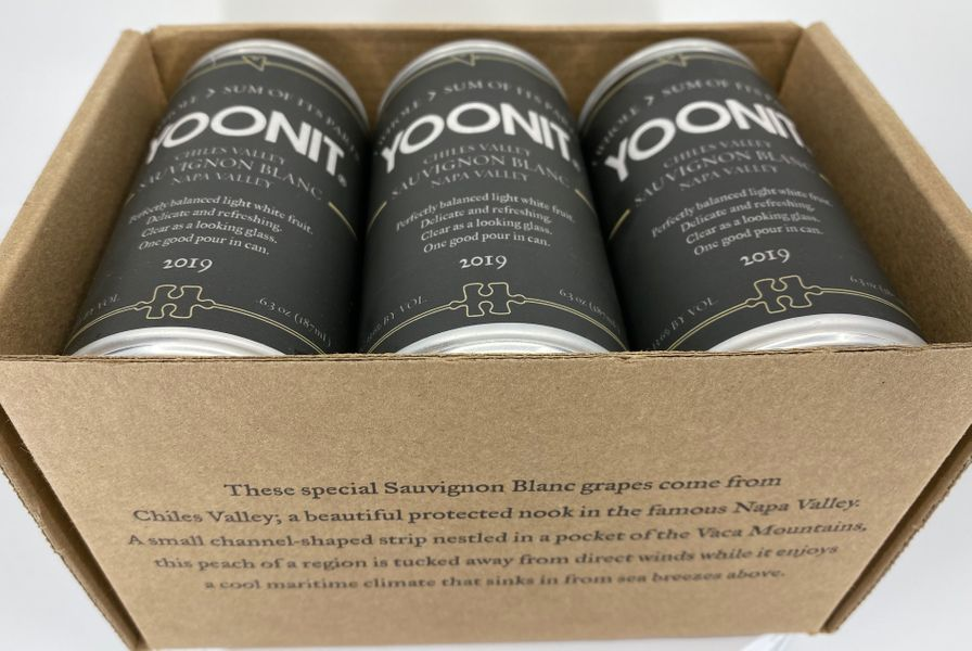 2019 Yoonit Sauvignon Blanc - Chiles Valley - 1.5 Bottles Worth - 6 x 187mL Cans