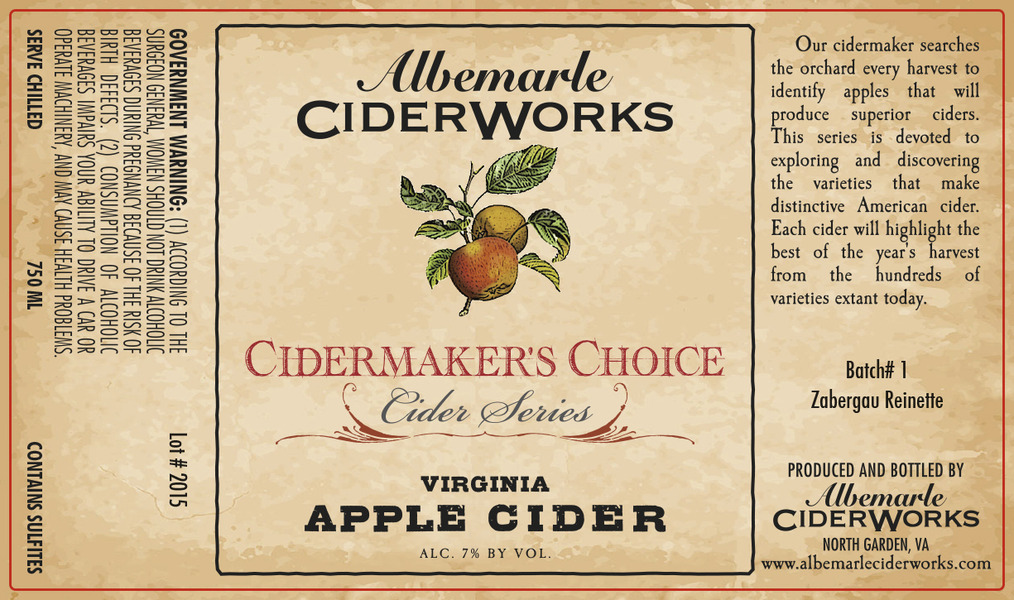 Product Image for 2015 Cidermaker's Choice - Batch #1