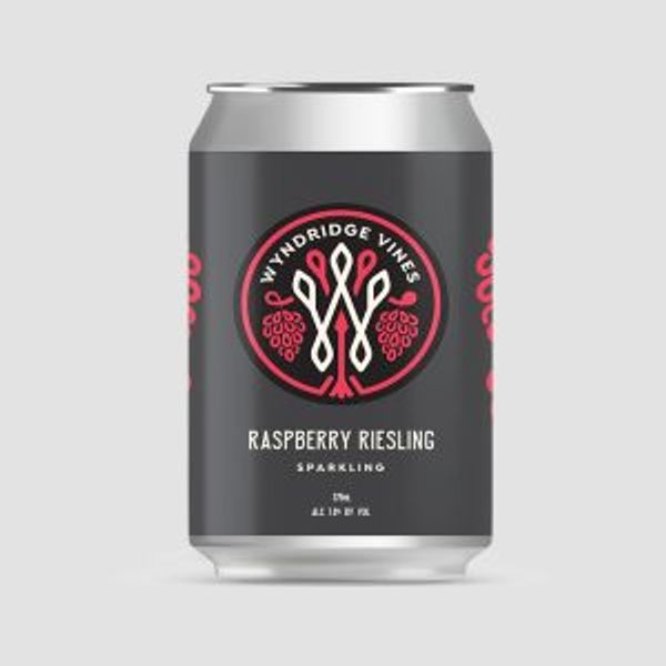 Vines Raspberry Riesling Sparkling 12oz can 4pk