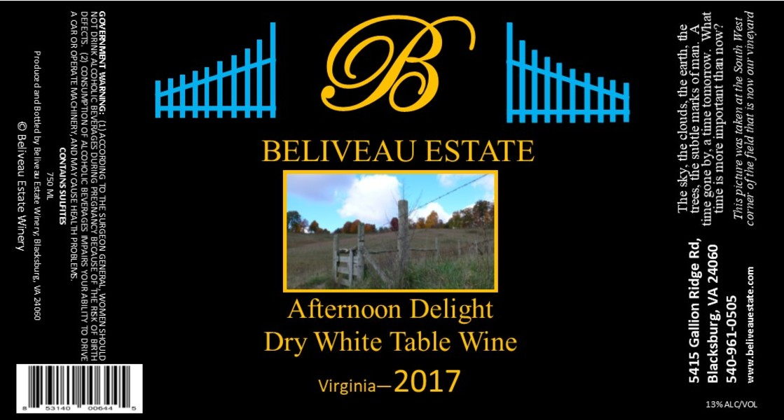Product Image for 2017 Afternoon Delight; Dry, Oaked Blend