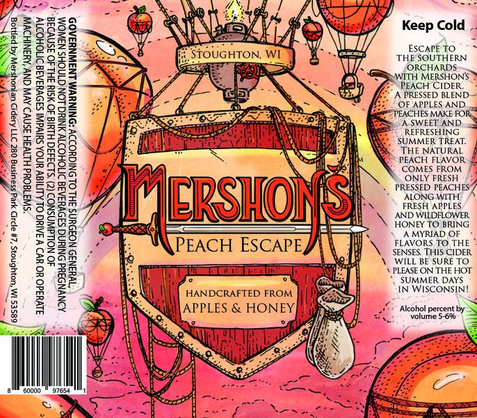 Product Image for Mershon's Peach Escape
