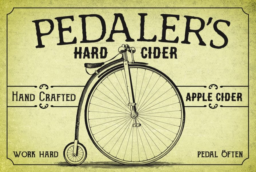 Pedaler's Hopped Up Hard Cider - 22oz bottle