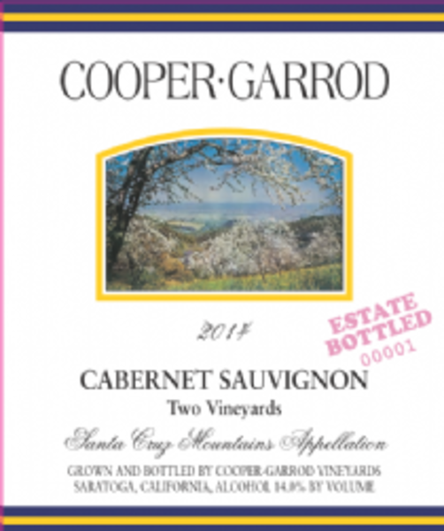 2014 Cooper-Garrod Estate Vineyards Cabernet Sauvignon, Two Vineyards