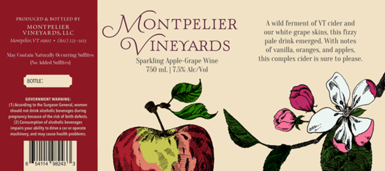 2019 Sparkling Apple Grape Wine