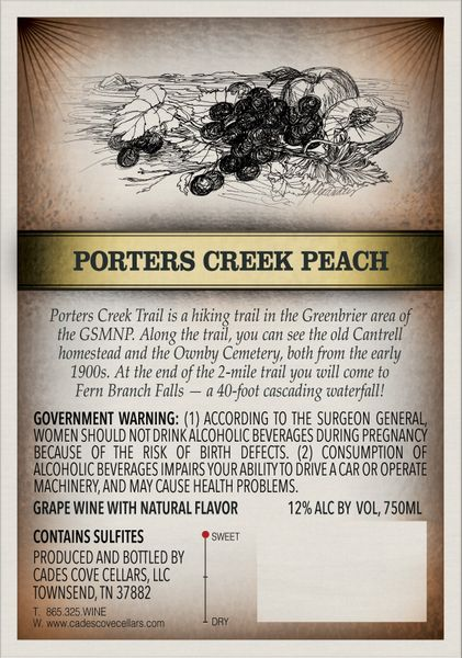 2018 Porters Creek Peach