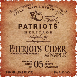 Product Image for Patriots' Cider with Maple