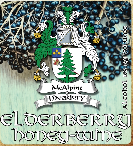 Product Image for 2018 Elderberry Honey-Wine
