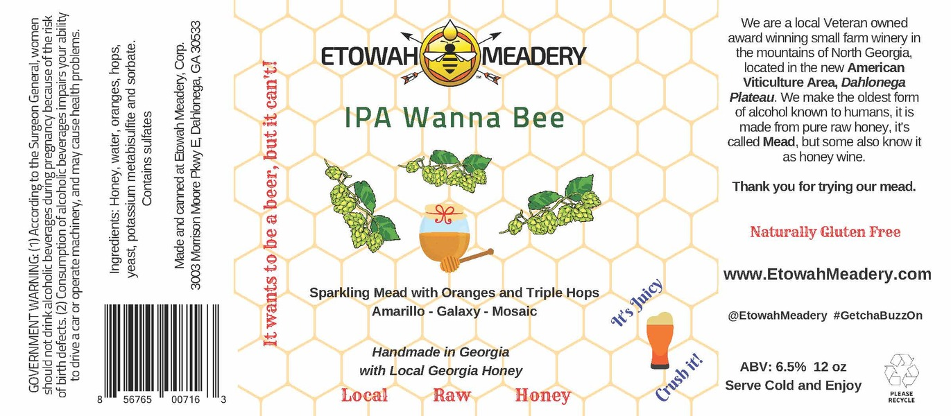 Product Image for 2018 Sparkling IPA Wanna Bee