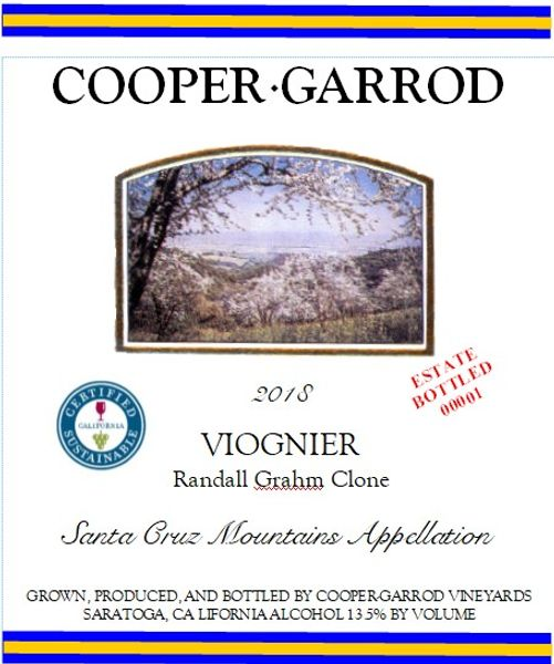 2018 Cooper-Garrod Estate Vineyards Viognier