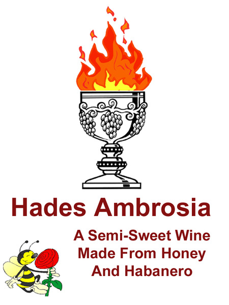 Hades Ambrosia Clover Mead infused with Habanero Peppers