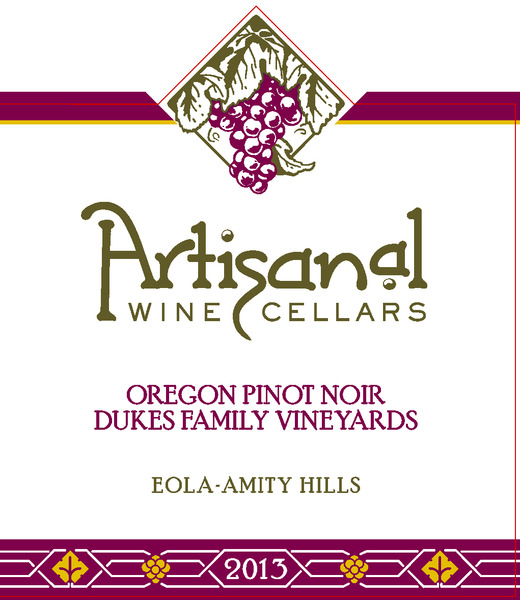 2013 Dukes Family Vineyard Pinot Noir
