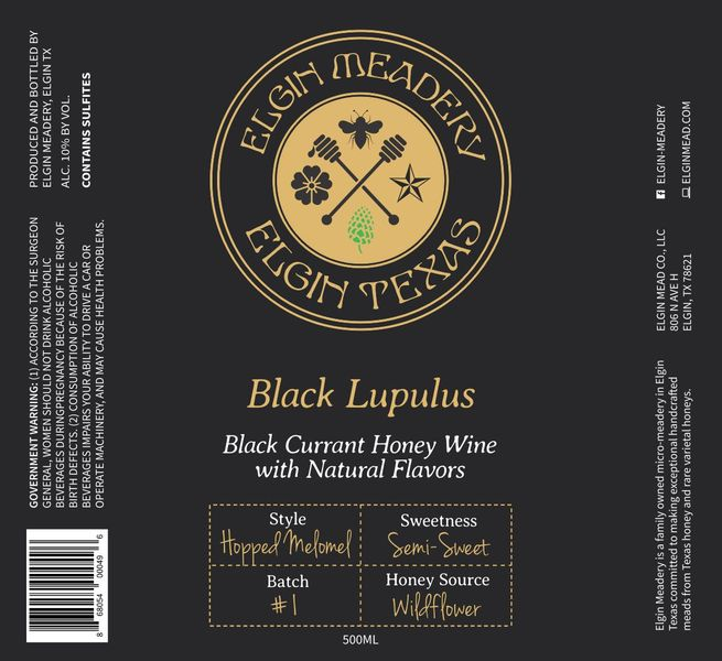 Product Image for 2019 Black Lupulus, Batch 2